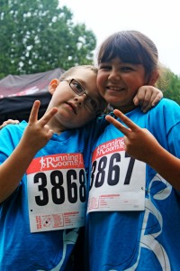 2 young participants at the Victoria Freedom Run